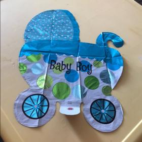 4  ballons bleus pour décorer votre baby shower : bébé, biberon, empreinte photo review