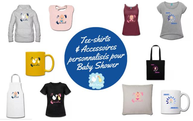 Tee-shirt s& Accessoires personnalisés pour Baby Shower