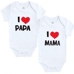 Lot de 2 Bodies pour bébé Blanc I Maman & Papa