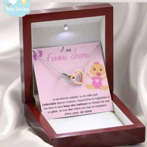 cadeau naissance collier future maman fille