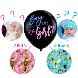 Ballon géant + confettis pour Gender Reveal Party
