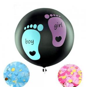 Ballon géant pieds roses et bleus pour fête révélation sexe bébé